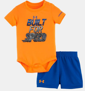 Baby Boys 3-6 M Under Armour 2 piece Built for Speed shorts and shirt set