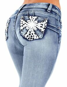 Style SF3-35057MS - Plus Size Colombian Design Butt Lift Skinny Jeans