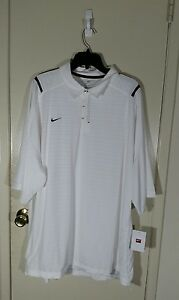 Nike Fit Dry Polo Golf Shirt WhiteBlack Men's Size 3XL Brand New WTags