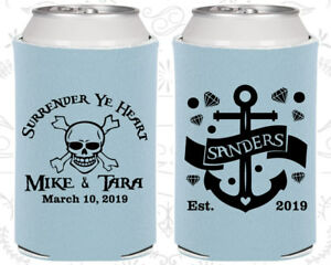 Personalized Wedding Coozies Custom Coozie (491) Surrender Ye Heart