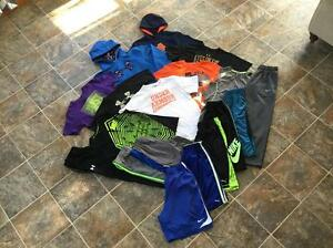 18pc Under Armour Nike Puma Hoodies Shirts Pants Shorts Lot Boys Size Youth LXL