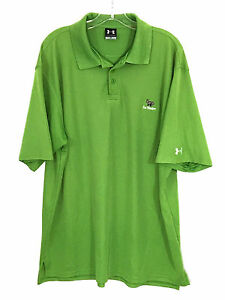 Under Armour UA Fox Meadow Country Club Green Polyester Golf Polo Shirt Mens L