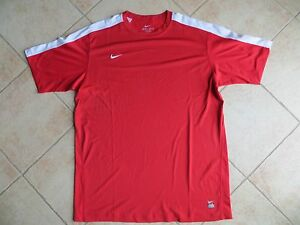Nike Dri-Fit DriFit Team Training Red and White XL Shirt NEW