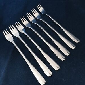 Oneida Northland VILLAGE COMMON FT SCOTT Lot of 7 Sea Food Cocktail Forks