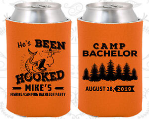 Bachelor Party Koozies Koozie Favors Supplies (40080) Camping Hunting Fishing