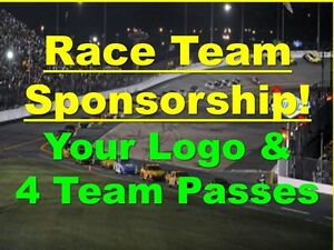 DAYTONA- NASCAR Cup Team Sponsor for 4 PEOPLE- Passes Decals Shirts Lunch...