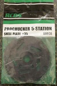NEW RCBS Pro Chucker 5 Station Shell Holder Plate #35 88938 Auto Index Press
