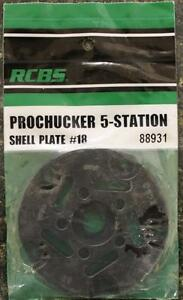 NEW RCBS Pro Chucker 5 Station Shell Holder Plate #18 88931 Auto Index Press