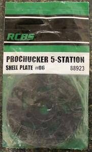 NEW RCBS Pro Chucker 5 Station Shell Holder Plate #06 88923 Auto Index Press