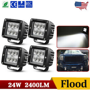 4x 3inch Cree LED Work Light Cube Pods Driving 240W Flood OffRoad Bumper SUV ATV $29.99