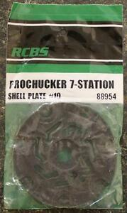 NEW RCBS Pro Chucker 7 Station Shell Holder Plate #10 88954 Auto Index Press