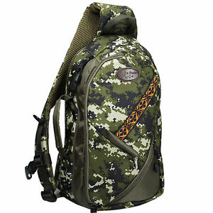 Fly Fishing Sling Bag Adjustable Size Camo Chest Backpack Fishing Tackle Bag