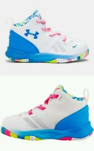Under Armour Toddler Girl's UA Stephen Curry 2 Basketball Shoes 1286153 White