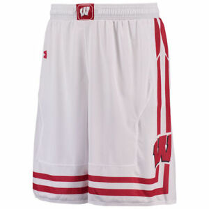Under Armour Wisconsin Badgers White Replica Basketball Shorts - College