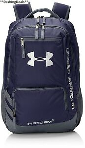 Under Armour Storm Hustle II Backpack Midnight Navy Graphite One Size New