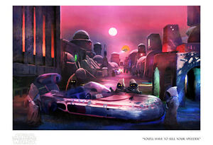 Star Wars A New Hope Ewoks Speeder Joel Payne Poster Giclee Celebration #95 $199.98