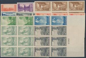 #756 765 PLATE # BLOCKS OF 6 COMPLETE SET VF XF NO GUM ISSUED CV $275 BR6586
