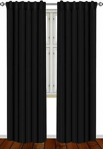 Window Curtains Blackout Room Thermal Insulated 2 Panels 52x84quot; Utopia Bedding $19.99