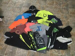24PC. huge lot Under Armour Nike Hoodie Tee Pants Short sets Boys Youth sz LXL