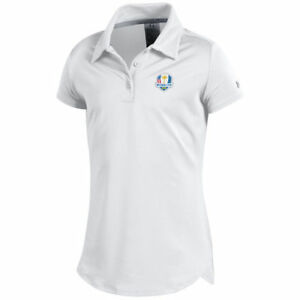 Under Armour Girls Youth White 2018 Ryder Cup Leader Polo - Golf