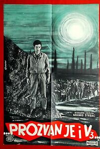 V 3 ROLL CALL WWII 1962 RARE 1SH EXYU MOVIE POSTER $129.99