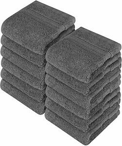 Pack of 12 Washcloth Towel Set Premium Cotton 700 GSM 12x12quot; by Utopia Towels