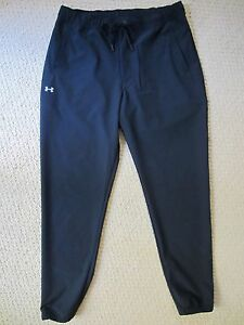 WOMENS UNDER ARMOUR ALLSEASONGEAR LOOSE FIT TIGHT BOTTOM PANTS SIZE SMALL BLACK