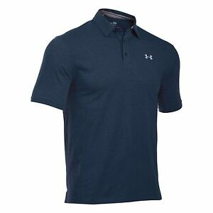 Under Armour Scramble Polo Shirt Mens Navy Collared T-Shirt Top Tee Sportswear