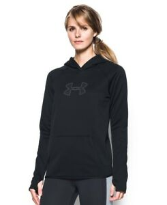 (Large BlackGraphite) - Under Armour Women's Storm UA Logo Hoodie. Shipping In