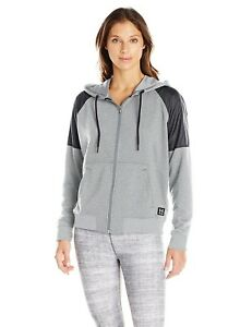 (X-Large True Gray HeatherBlack) - Under Armour Women's Favourite French Terry