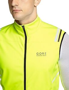 (Small Neon Yellow) - GORE RUNNING WEAR Men's Long Thermo Running Tights GORE