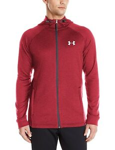 (X-Large Red (600)) - Under Armour Men's Tech Terry Full Zip Hoodie. Free Shipp