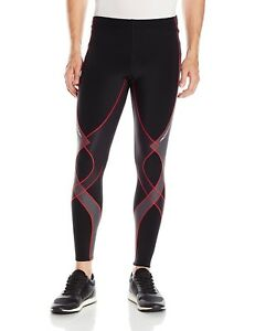 (Medium BlackGreyRed) - CW-X Men's Insulator Stabilyx Running Tights. Shippin