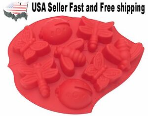 8 Cavity Butterfly Silicone Soap Mold for DIY Handmade Soap US Seller