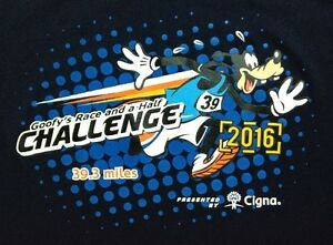 Goofy Runners Shirt Small Womens Disney 2016 WDW Race and a Half Challenge Navy