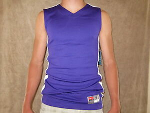NIKE Dri Fit Mens Purple Basketball Sleeveless Jersey Shirt  Size SMALL NWT
