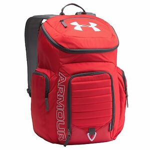 Under Armour Undeniable Backpack Red Sports Bag Gymbag Rucksack