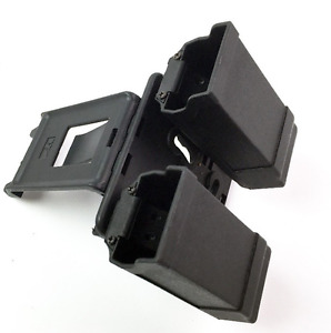 Military Belt Paddle Style Double Magazine Holster Pouch For Glock 9mm .40cal