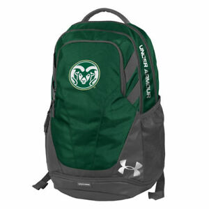 Under Armour Colorado State Rams Green Hustle 3.0 Performance Backpack