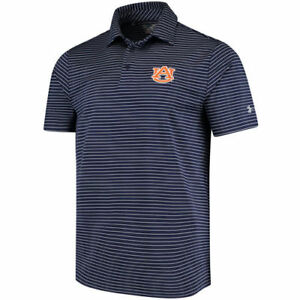 Under Armour Auburn Tigers Navy Playoff Stripe Performance Polo - College