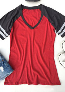 GAME DAY T Shirt Women V-neck Party College Football Baseball Gameday Tee Casual