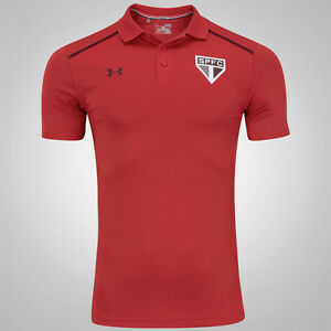 Sao Paulo Polo Red Soccer Football Jersey Shirt - 2017 Under Armour Brazil