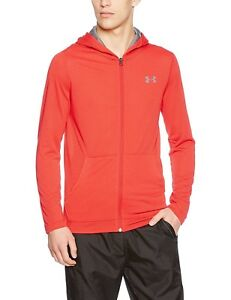 (X-Large Red) - Under Armour Threadborne Fitted Full Zip Running Hoodie - SS17.