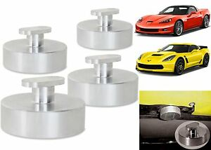 4 Pack Billet Aluminum Jacking Pucks For 2005-2017 Corvette C6 C7 New Free Ship