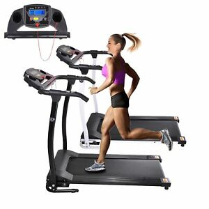 1100W Portable Electric Treadmill Folding Motorized Machine Running