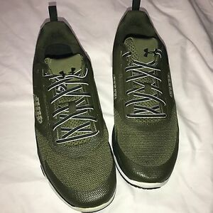 NEW Under Armour Men's UA Charged One Sneaker GreenHead Artillery OD Green Sz 11