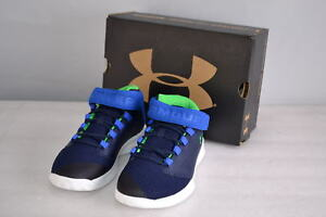 Boy's Under Armour  1299029-410 Get B Zee Basketball Shoes  BlackBlue