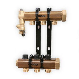 Uponor TruFLOW Jr. Manifold Assembly Balancing Valves  and Valveless 3-loop