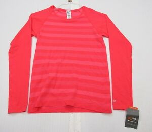 new CHAMPION J1355 Women's Size XS Athletic DUO-DRY Long Sleeve Pink Shirt