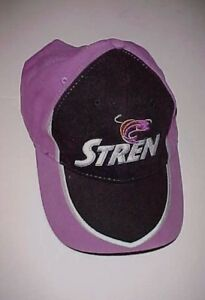 Stren Fishing Gears Tackles Logo Purple Black Adult Unisex Baseball Cap One Size